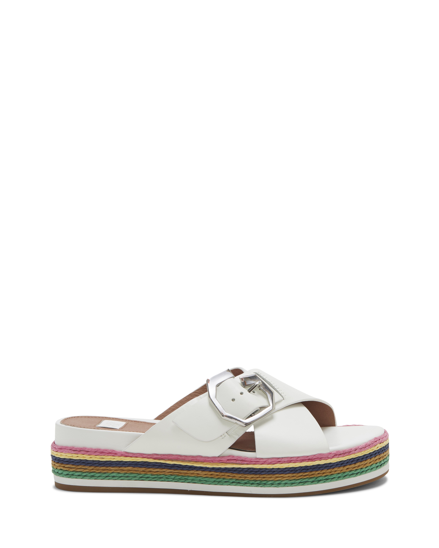 Louise Et Cie Women's Cassia Flatsform Slide Size 5.5 White