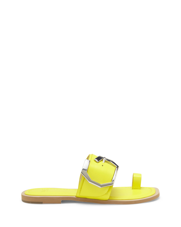 Louise Et Cie Women's Altan Toe Ring Slide Size 5.5 Belgrade Vachetta Yellow