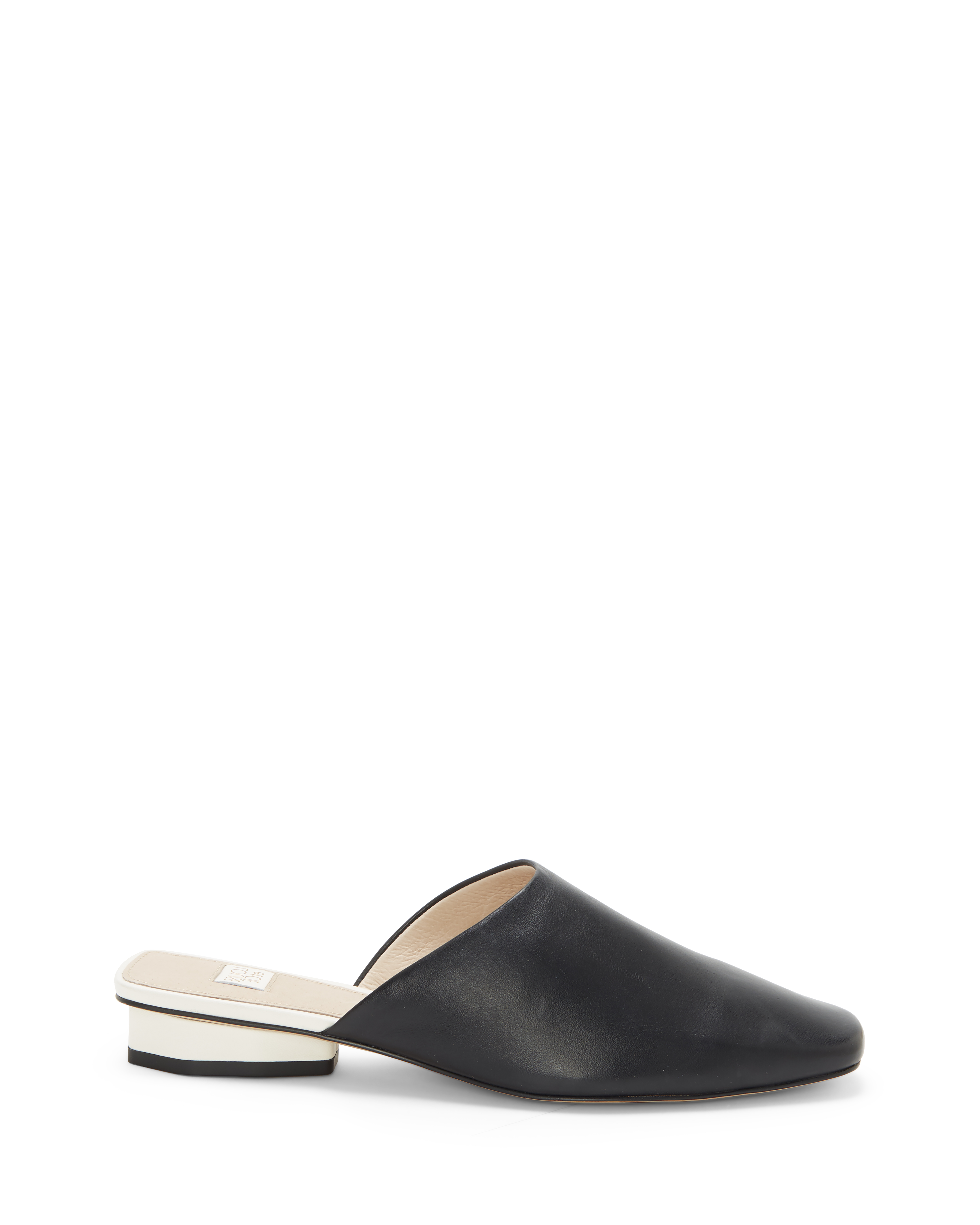 Louise Et Cie Women's Coolia Square Toe Mules Shoes Size 5.5 Silky Leather Black