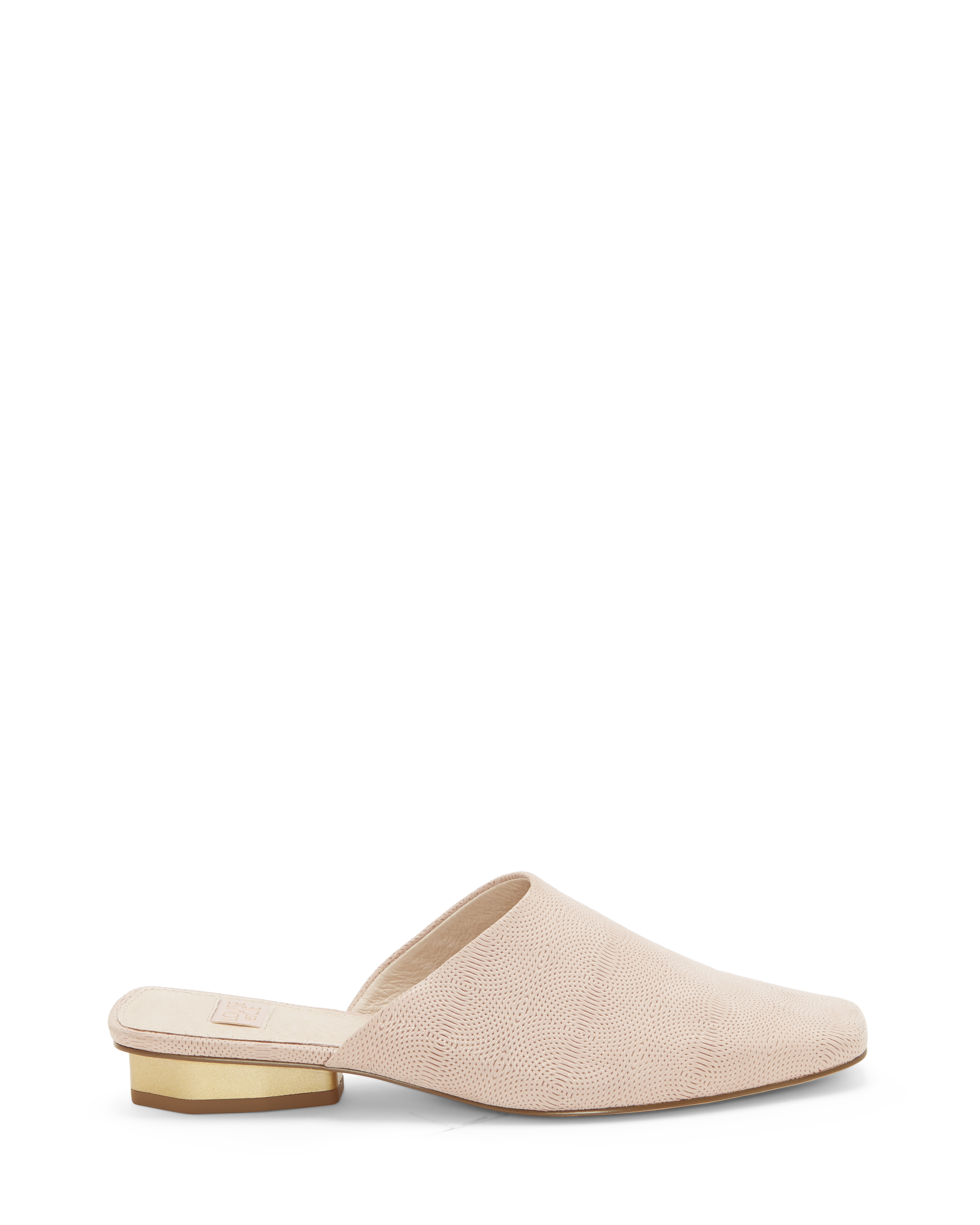 Louise Et Cie Women's Coolia Square Toe Mules Shoes Size 5.5 Silky Leather Light Pink